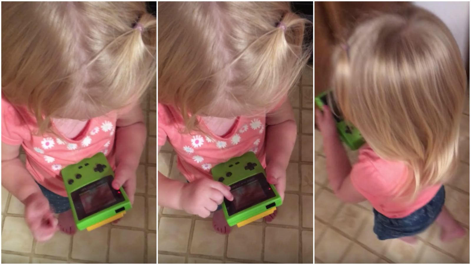Little Girl Thinks Her Dad's Game Boy Has a Touchscreen.