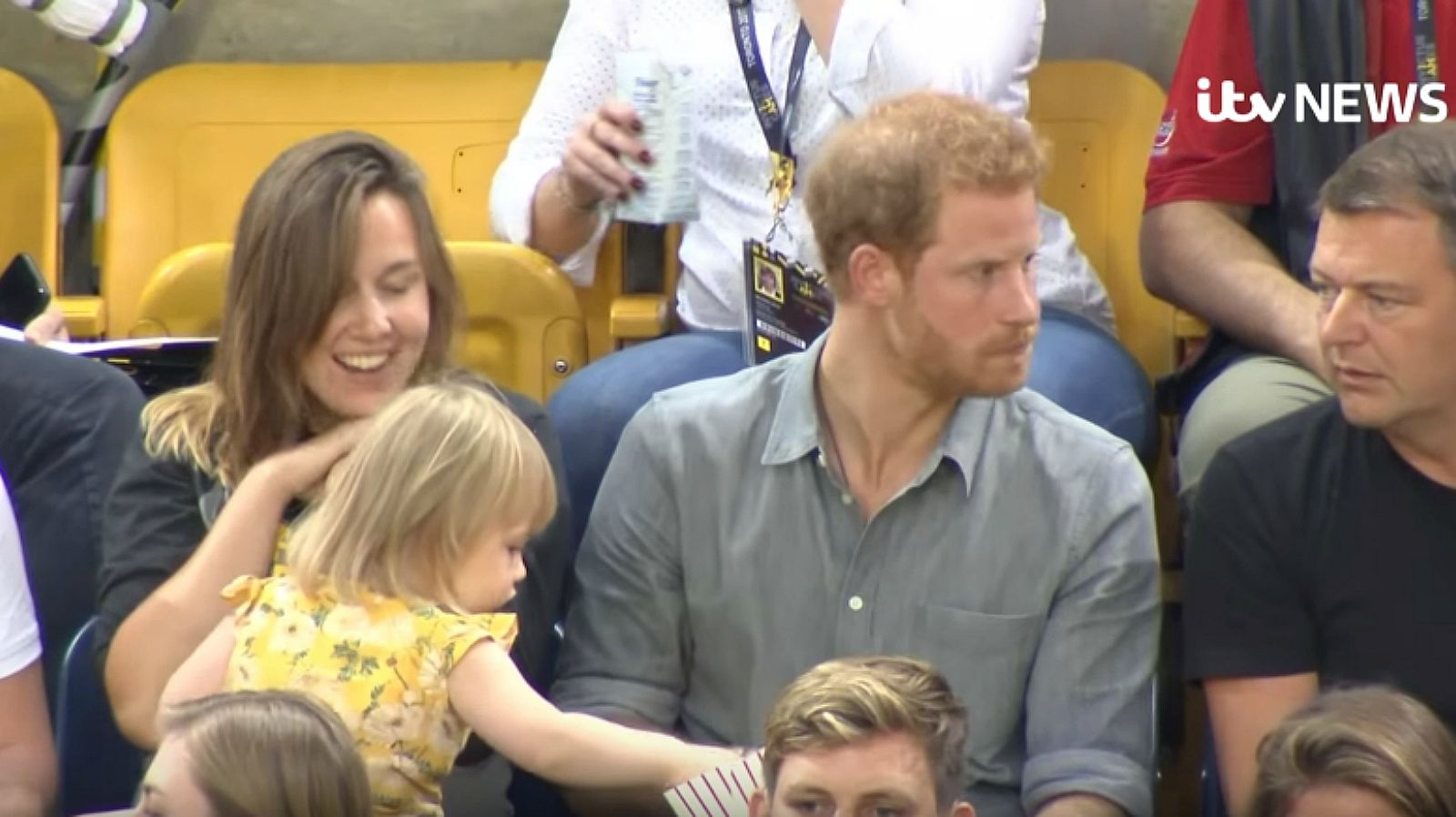 Sneaky Snack Thief Steals Prince Harry's Popcorn at the Invictus Games