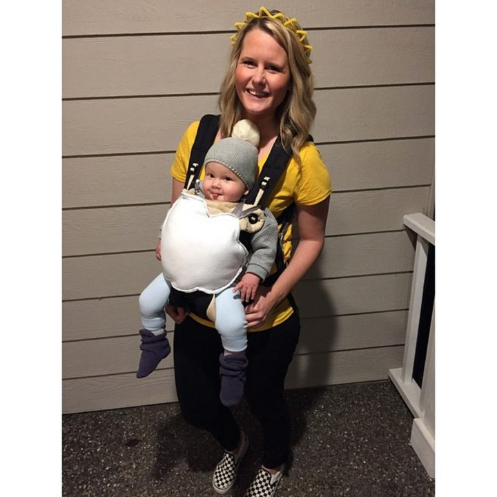 17 Funny Halloween Costumes for Babies - Sun and Cloud costume.