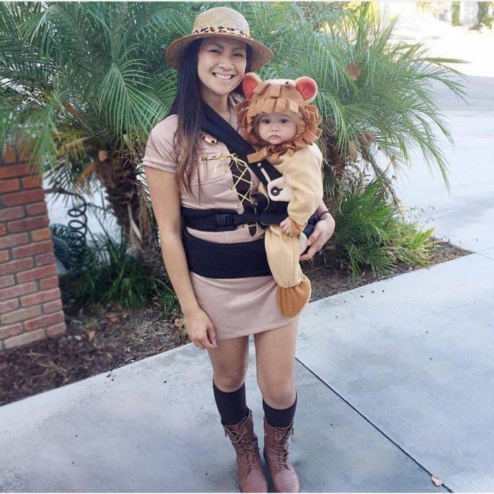 17 Funny Halloween Costumes for Babies - Safari Lion and Tamer costume.