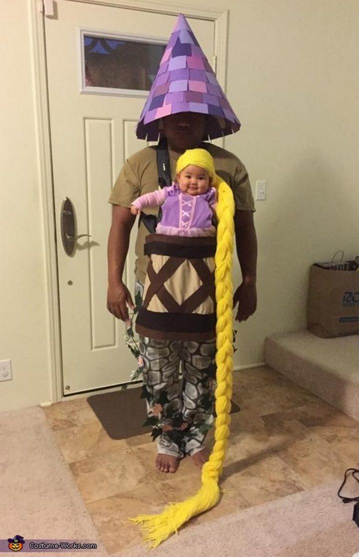 17 Funny Halloween Costumes for Babies - Rapunzel costume.