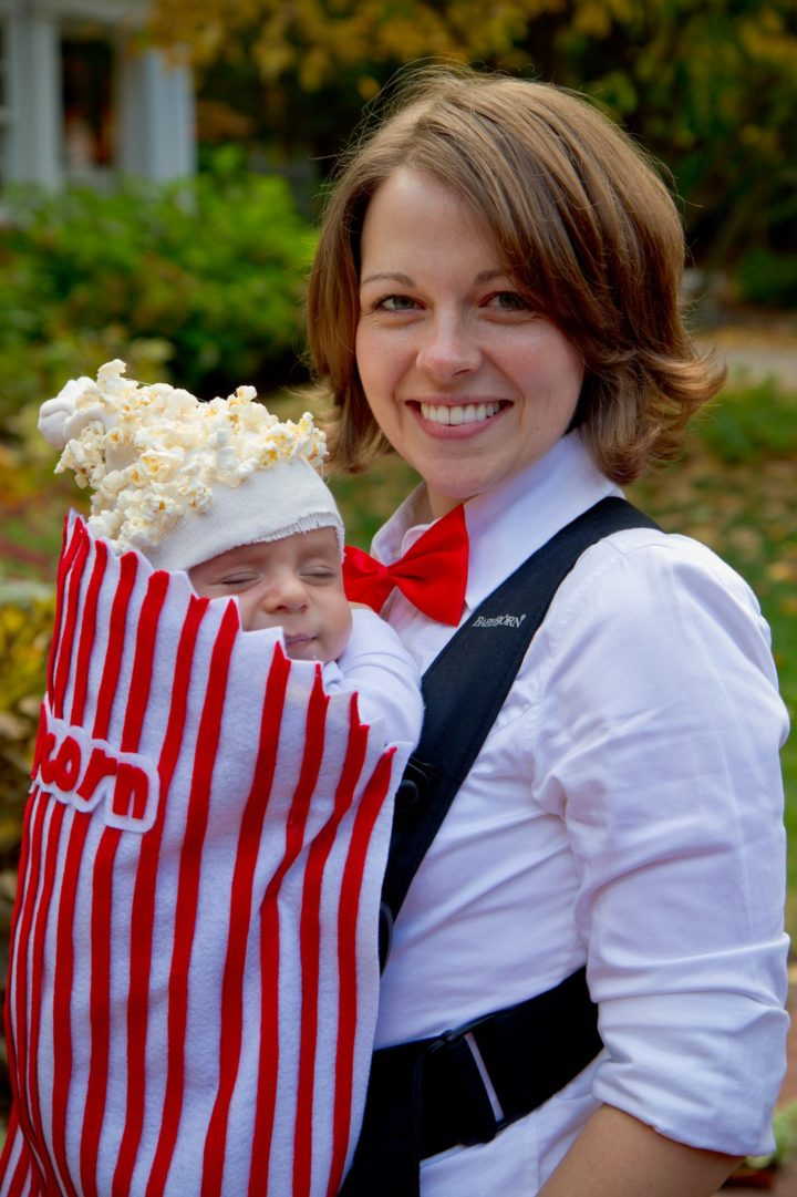 17 Funny Halloween Costumes for Babies - Popcorn Concession costume.
