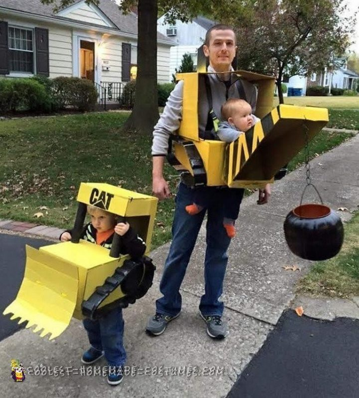 17 Funny Halloween Costumes for Babies - The Wrecking Crew costume.