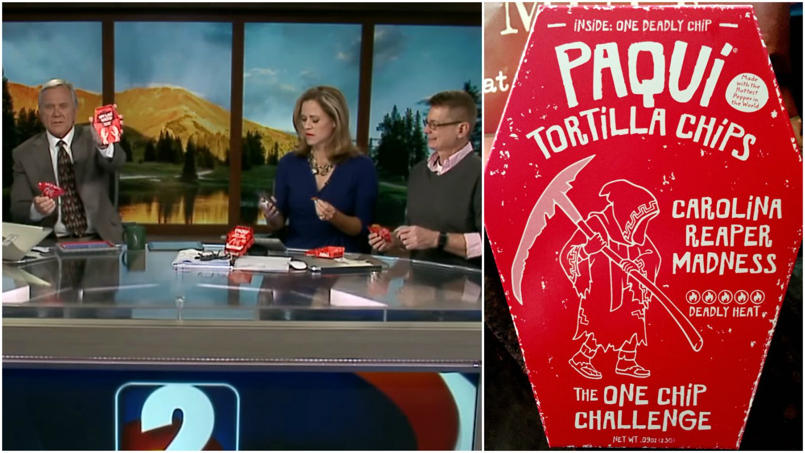 """News Anchors Try The """"One Chip Challenge"""" On Air and It Goes Off the Rails Pretty Quickly"""