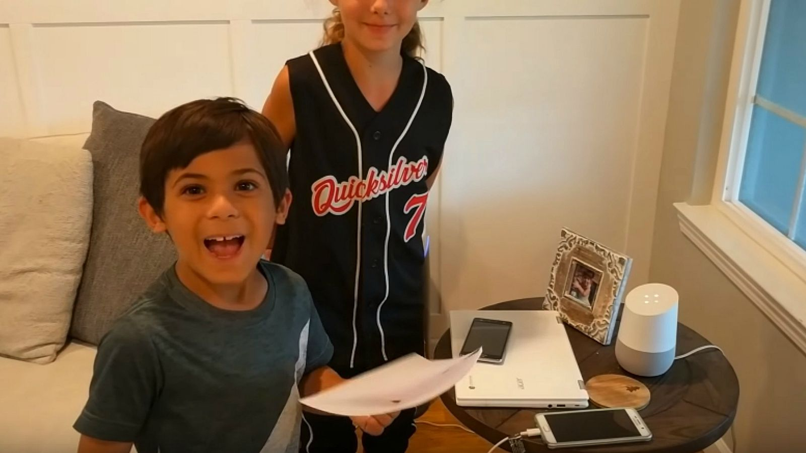 Google Home Surprises 7-Year-Old Boy with a Nintendo Switch.