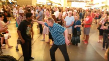 Grandpa Break Dancing Battle Against Two Young Men is Hilarious.