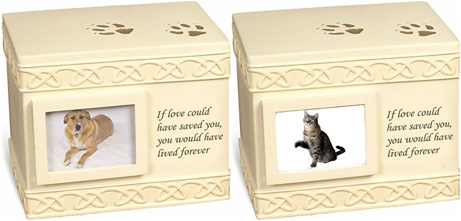 Pet urns to hold your pet's cremation ashes.