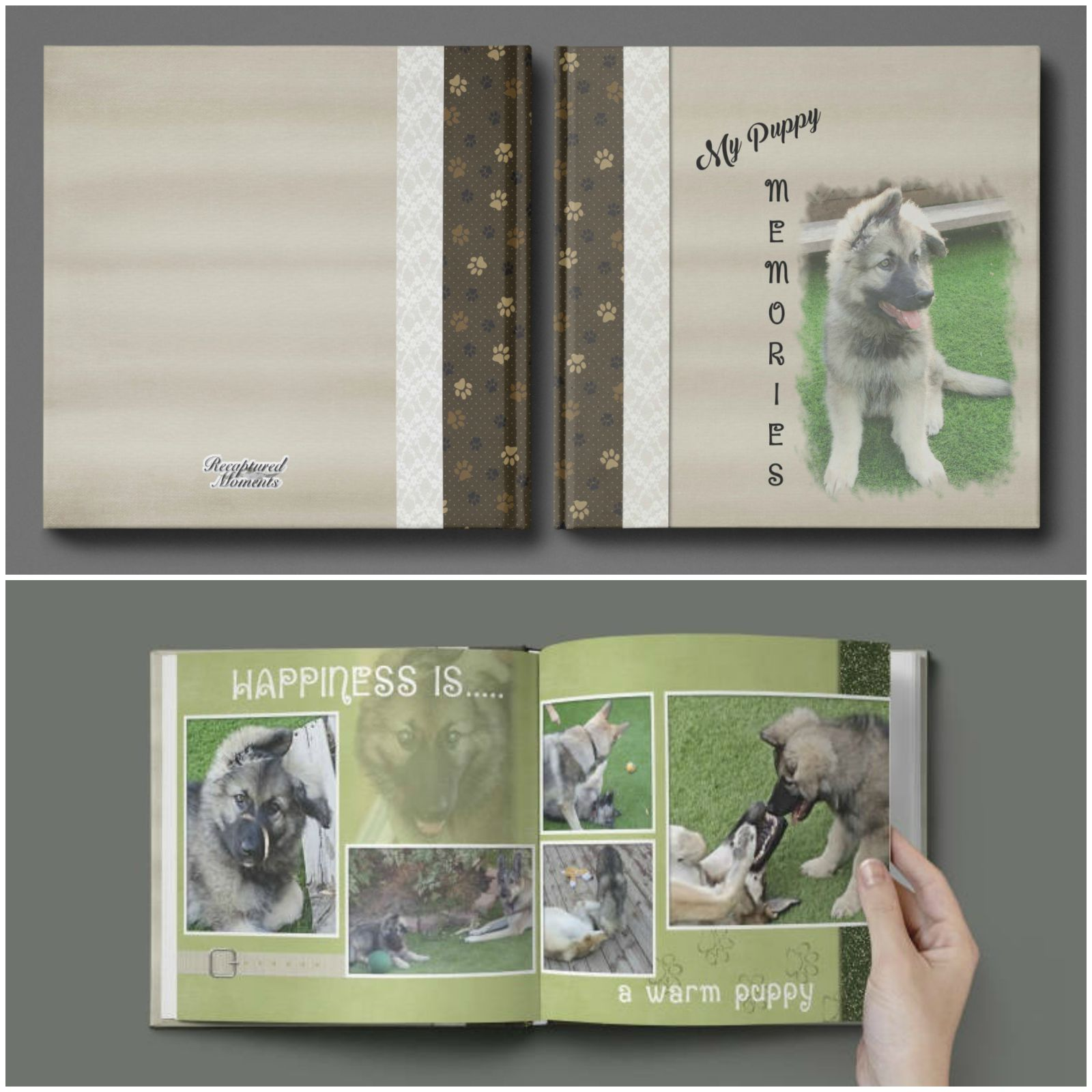 Photo books help you capture and store favorite memories you've had with your pet over the years.