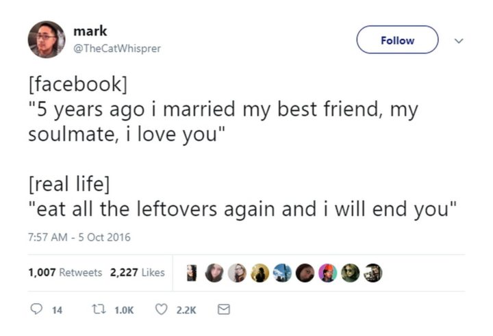 47 Best Marriage Tweets - My pet peeve is people pretending to have the perfect lives on Facebook.