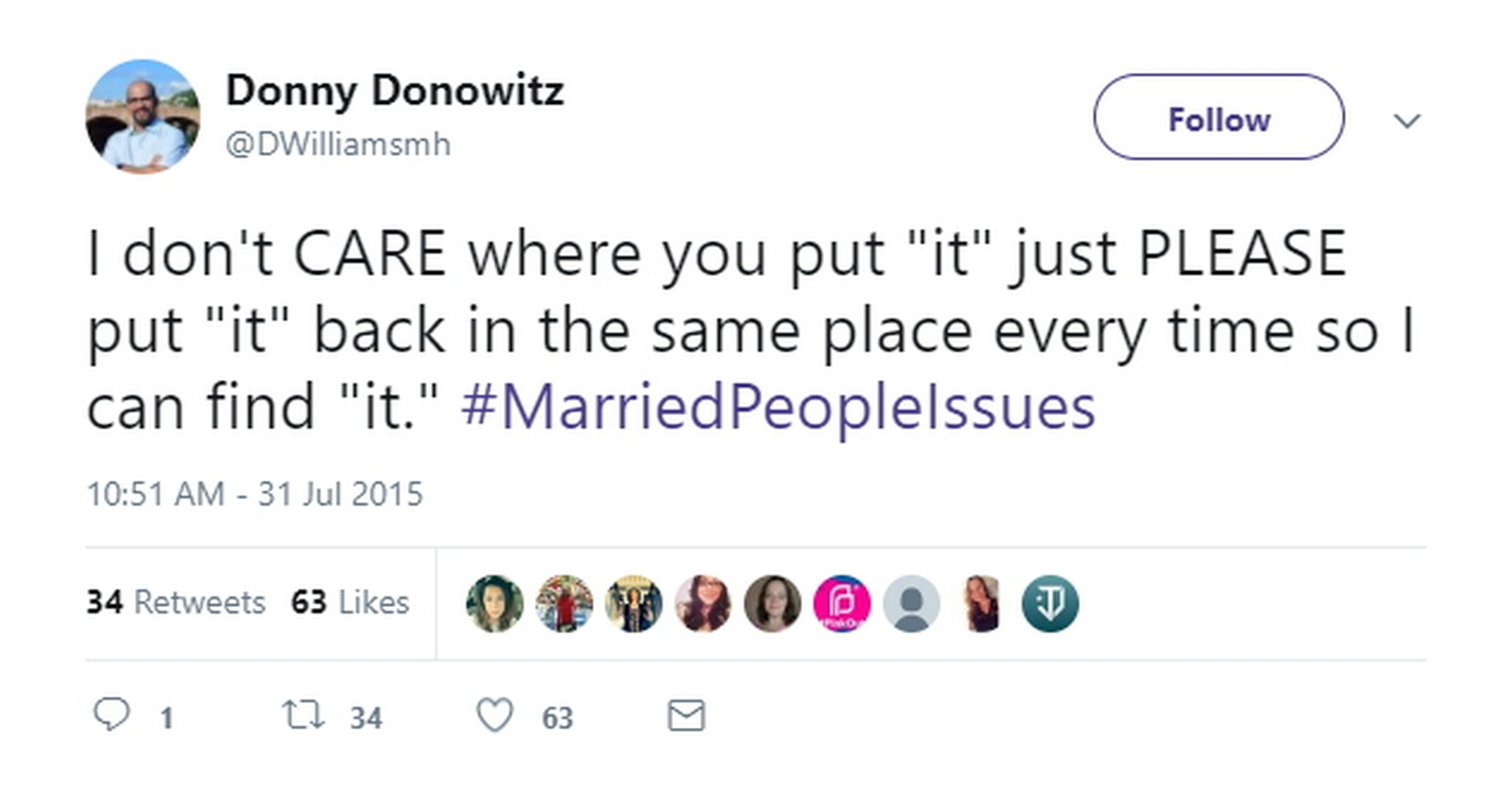 27 Best Marriage Tweets - Married? Good luck with that.