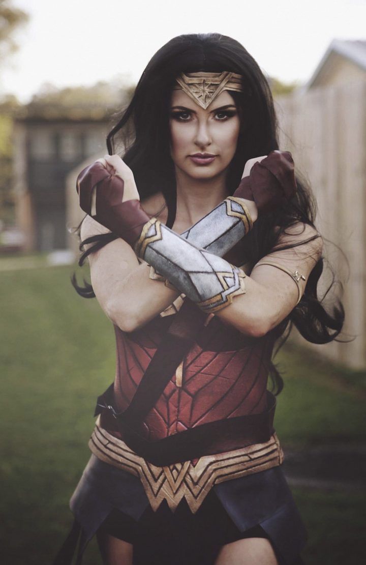 Rhylee Passfield is the real Wonder Woman for creating this epic DIY Woman Woman costume.