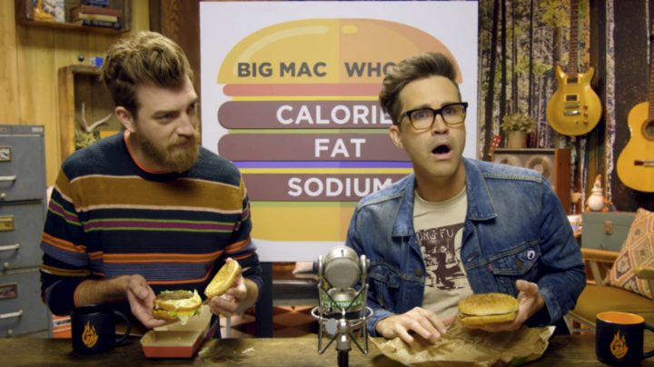 Rhett and Link Burger Showdown Big Mac VS Whopper.