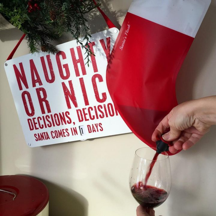 It doesn't matter if you've been naughty or nice, Santa's Flask, a wine dispensing stocking will make the holidays a hit.