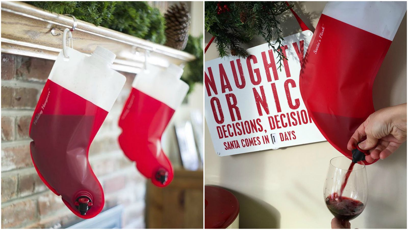 This Wine Dispensing Christmas Stocking Is One Christmas Gift That Keeps on Giving