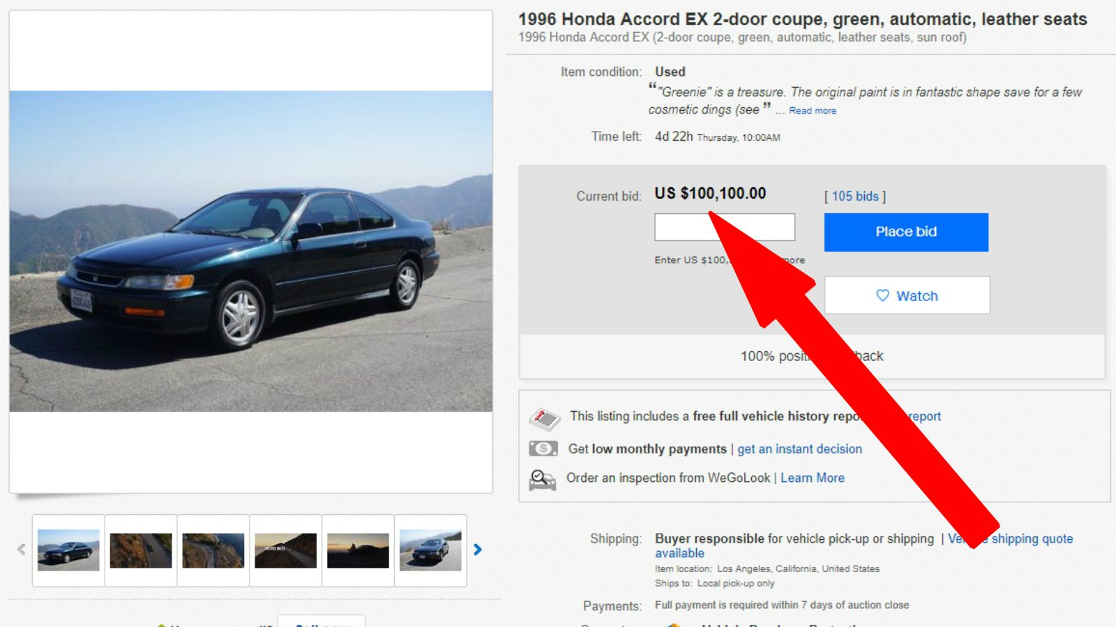 He Creates a Commercial to Sell His Girlfriend's 1996 Honda Accord. The Highest Bid Exceeds His Expectations!