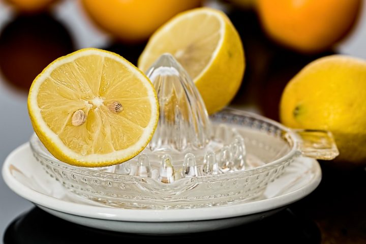 13 Natural Skin Care Products - Lemon juice.