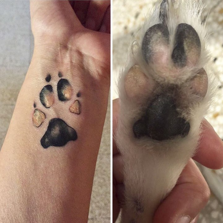 25 Dog Paw Tattoo Ideas -