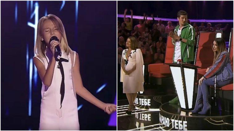 Daneliya Tulyeshova Sings 'Stone Cold' at 'The Voice Kids 2017' Ukraine.