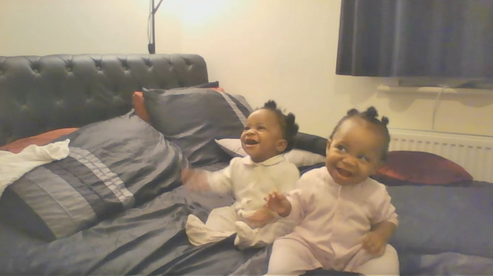 Twin Babies Dancing as Mother Hums a Song Is Adorable.