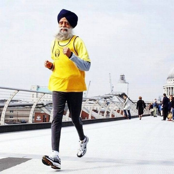 100-year-old Fauja Singh finished Toronto's waterfront marathon in 8 hours, 25 minutes, and 18 seconds, making him the oldest marathon runner to complete a run of that distance.