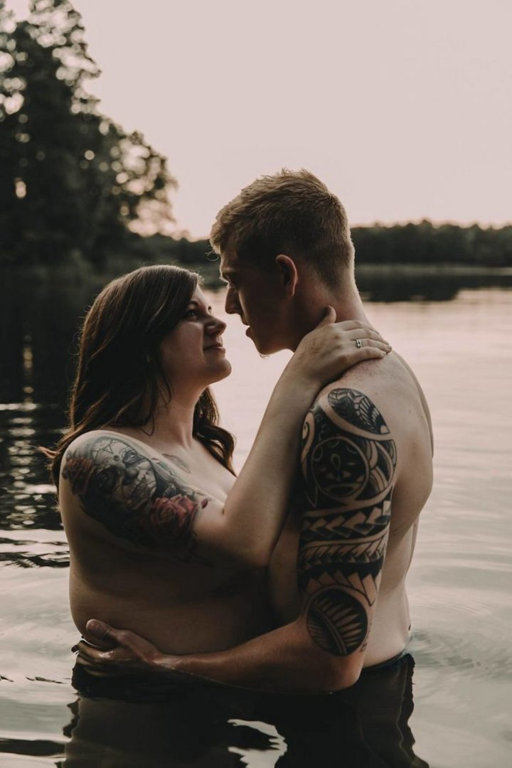 """We both were surprised by how close it made us feel. You don't realize how vulnerable you are until you're half-naked in a lake with a camera pointed at you and your man."""