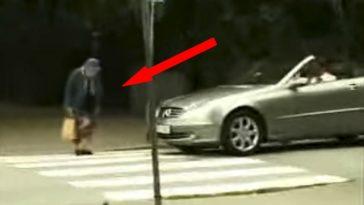 Elderly Woman Gets Her Revenge at Rude Man Honking His Car Horn.