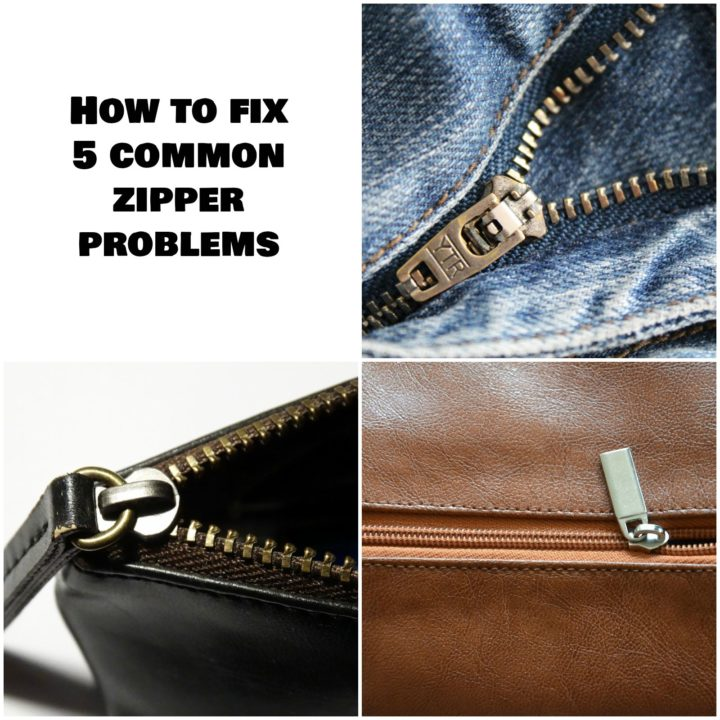 Learn How to Fix 5 Common Zipper Problems Easily and Inexpensively.