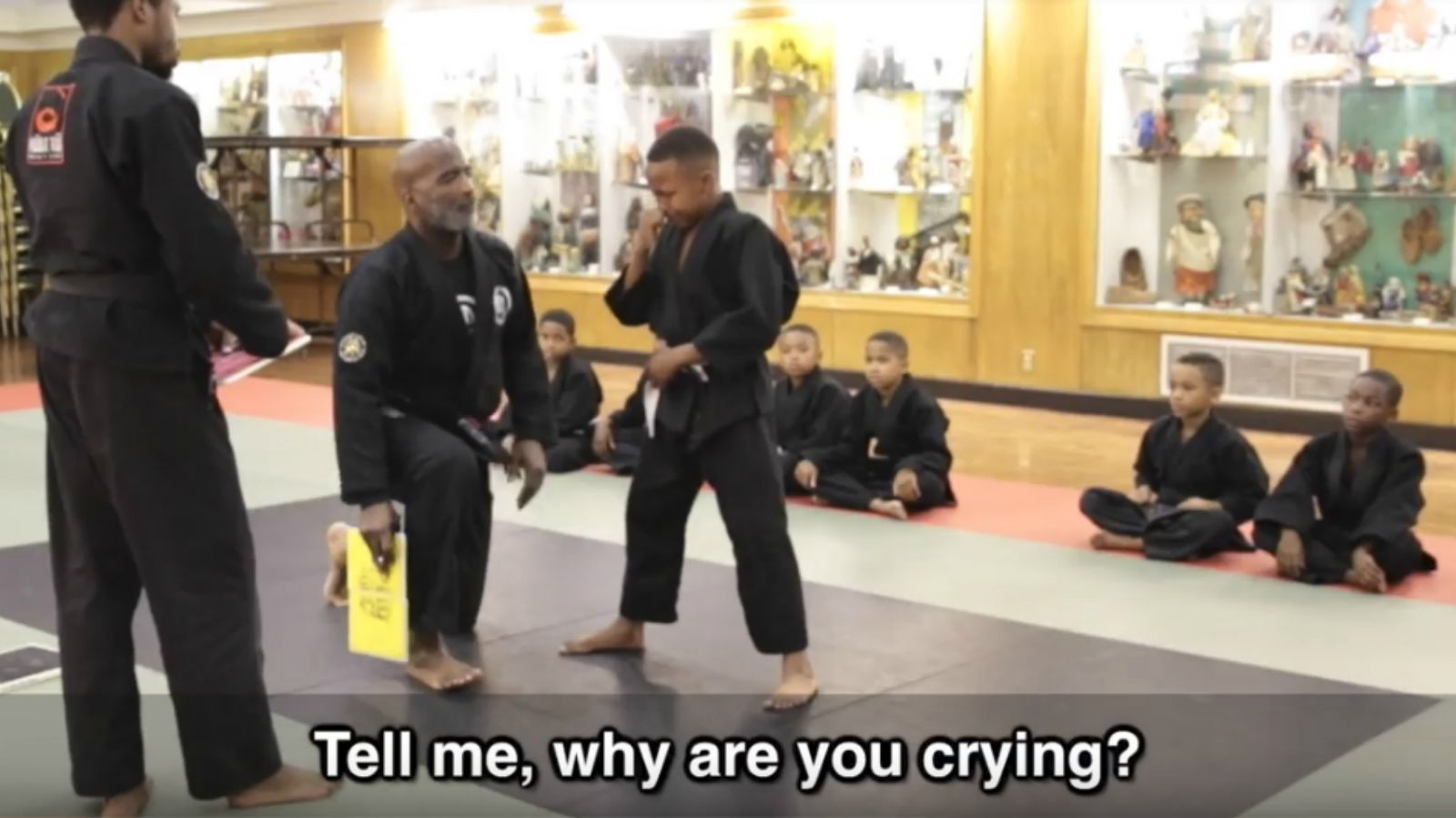 Mentor Tells His Martial Arts Student That It's OK to Cry.