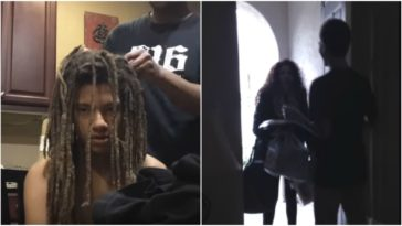 Teen Cuts Off 9-Year-Old Dreadlocks To Surprise His Mom.