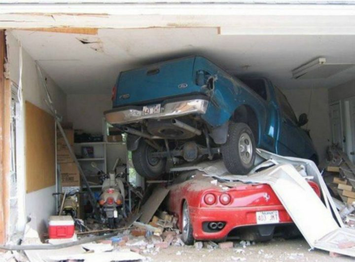 Wife Drives Truck into Husband's Ferrari After Learning He Cheat on Her.