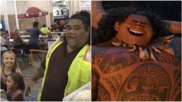 Young Girls Insist the Costco Clerk Is Maui from Moana!.