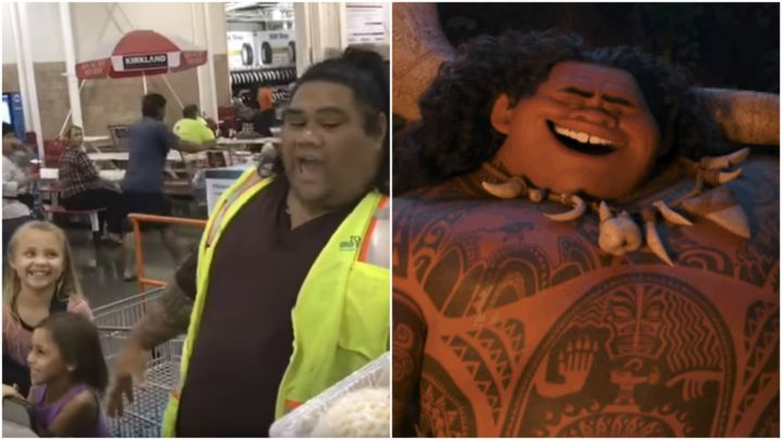 Young Girls Insist the Costco Clerk Is Maui of Moana!.