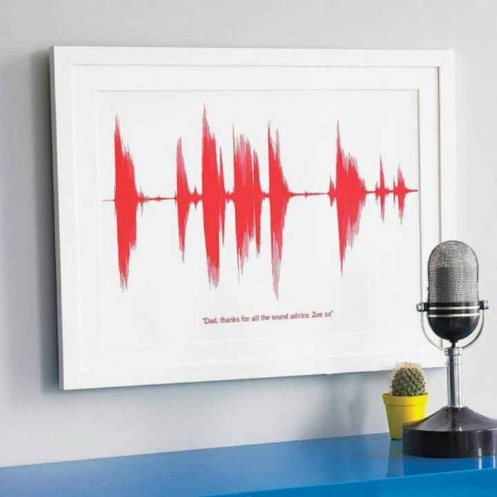 21 Unique Valentine's Day Gifts - Personalized voice sound wave print.