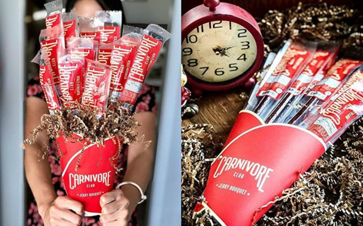 21 Unique Valentine's Day Gifts - Beef jerky bouquet.