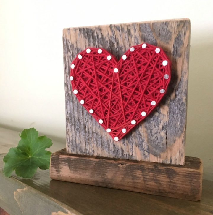 21 Unique Valentine's Day Gifts - Handmade heart accent.