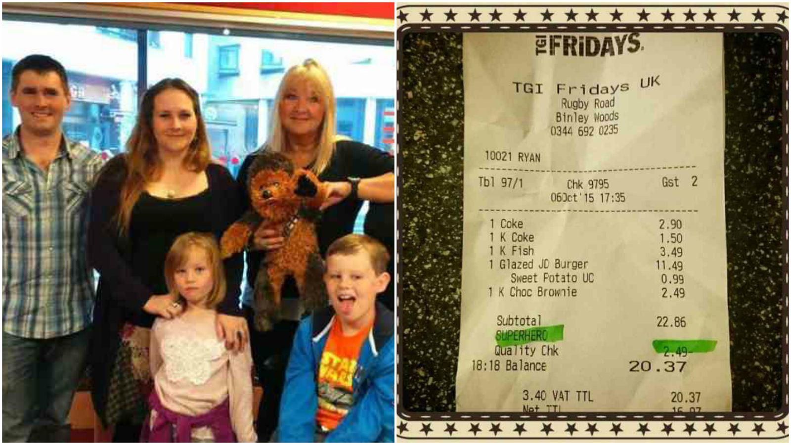 Autistic Boy Gets Special Surprise from the Staff at TGI Fridays.