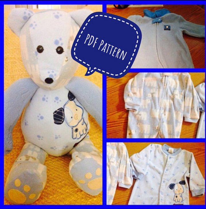 This complete PDF pattern and instructions will let you create the most adorable memory bear ever.