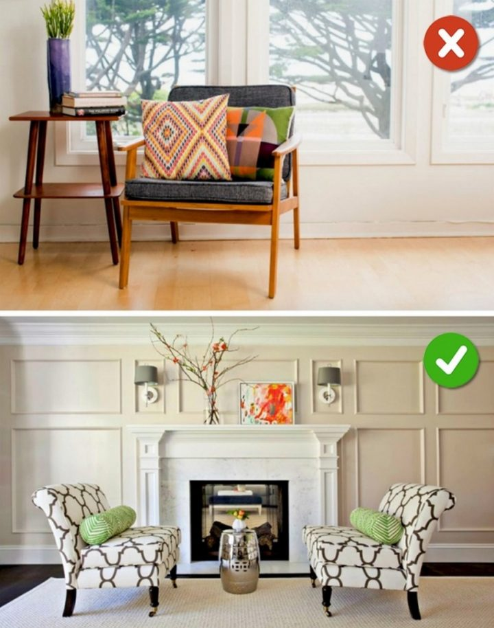 15 Living Room Design Mistakes - Choose furniture that fits your room's style.