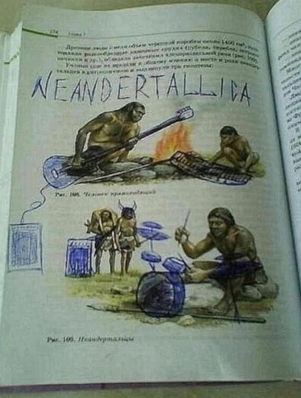 When bored students feel like rocking instead of learning about the stone age.