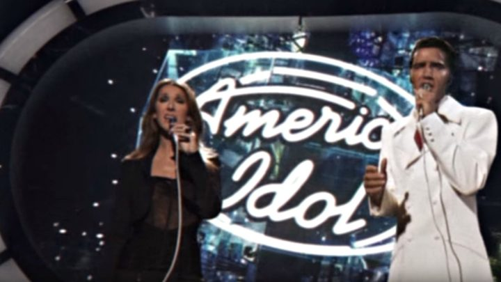 Celine Dion Performs LIVE With Elvis Presley On American Idol.