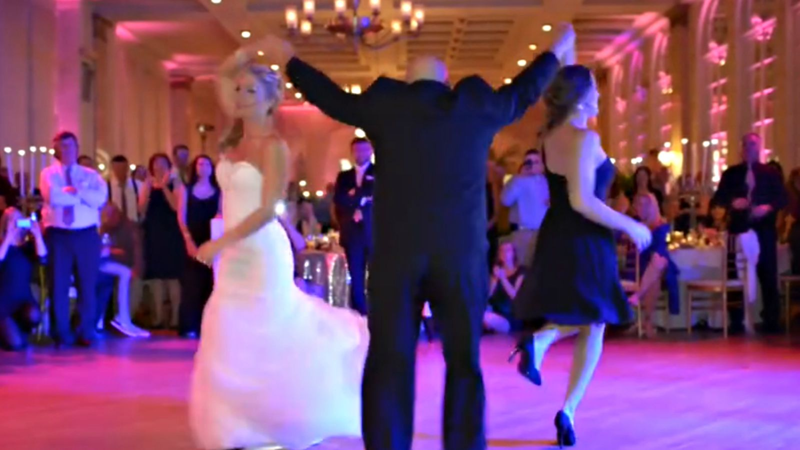 Wedding Guests Treated to an Epic Father-Daughter Dance Mashup.