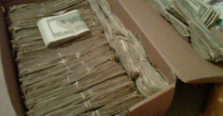 A husband found stacks of money totaling $95,000 that his wife hid from him.