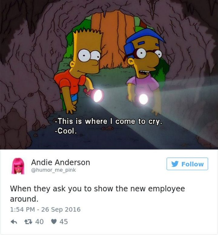 """27 Funny Work Memes - """"When they ask you to show the new employee around."""""""