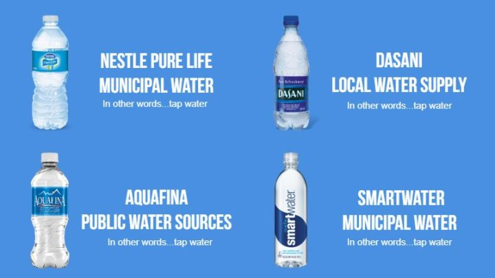 Most of the bottled water on store shelves is tap water anyways.