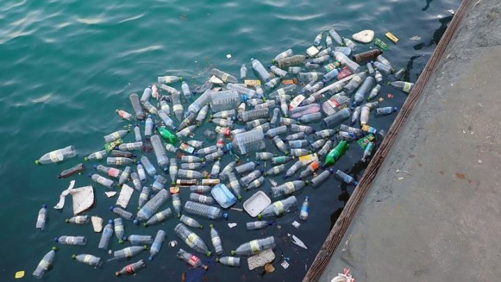 Landfills (and the ocean) are getting filled with water bottles.