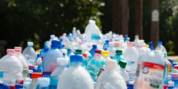 Bottled water contains tiny bits of plastic.
