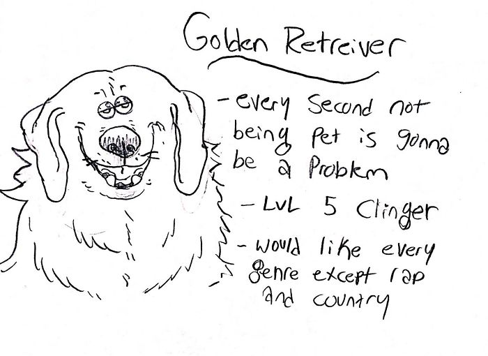 Funny Guide to Dog Breeds - Golden Retriever.