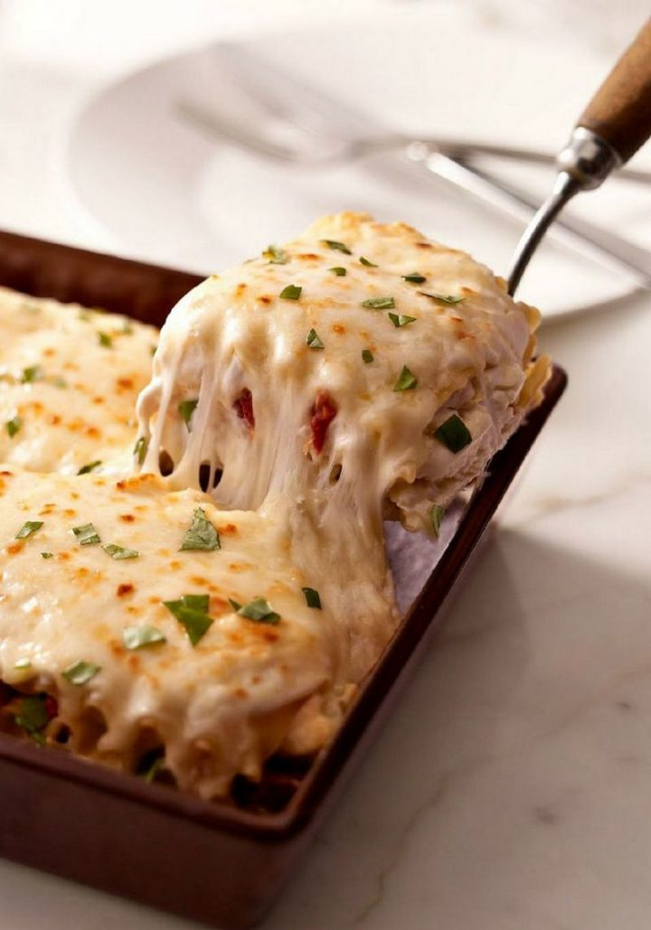 15 Best Lasagna Recipes - Creamy White Chicken & Artichoke Lasagna Recipe.