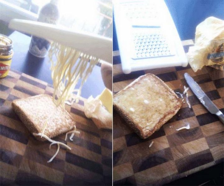 17 Kitchen Hacks - If your butter is frozen, just shred it instead!