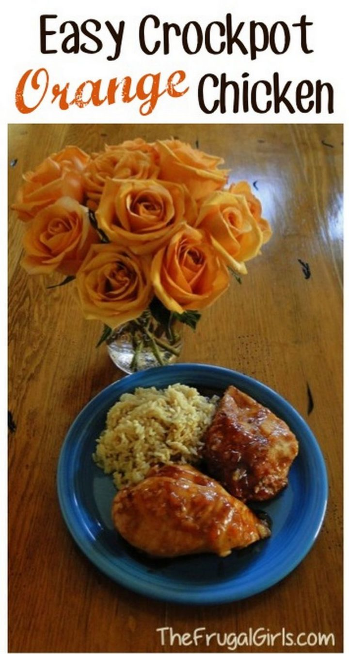 19 Chicken Recipes You Will Love - Crockpot Orange Chicken Recipe.